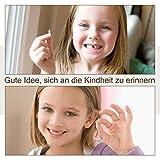 Aitsite Zahnbox Holz Milchzähne Box [Deutsch Version] Zahndose Milchzahndose Zahndöschen für Kinder (Junge) - 6