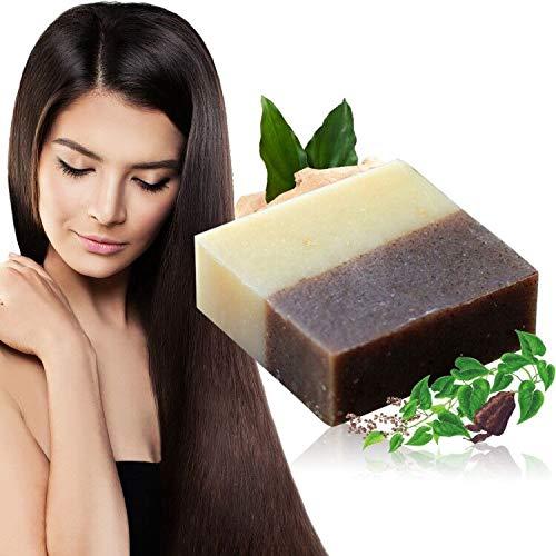 Haar Shampoo Bar, Festes Shampoo, Anti Schuppen und Öl-Kontrolle, Natürliches Organisches Pflanzliches Festes Seifenhaar, Reise Haarpflege, für trockenes und geschädigtes Haar