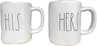 Rae Dunn by Magenta HIS and HERS 2 Mug set Coffee Tea Soup Mug