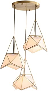 Home Equipment Chandeliers Nordic Minimalist Kitchen Dining Room Chandelier Creative Personality All Copper Living Room Co...