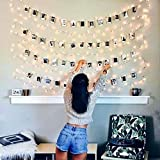 Luci Led Con Kit Per Foto JP-LED® 【5M 50 Led】Catena Luminosa Portafoto...