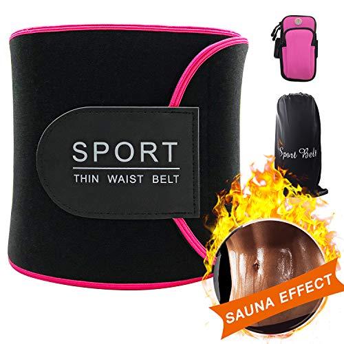 Baozun Bauchweggürtel Fitnessgürtel Fitness Gürtel Schwitzgürtel zur Fettverbrennung Verstellbarer Neopren Sauna Bauchweggürtel Gewichthebergürtel-Mehrfarbig
