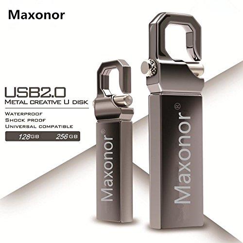 Maxonor 256GB USB 2.0Flash Drive impermeabile metallo pendrive ad alta velocità USB memory stick