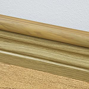 """D-Line Oak Wood Effect Cable Raceway On-Wall Cord Cover 