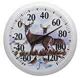 Taylor Precision Products Springfield 13.25 inch Dial Thermometer, Winter Deer
