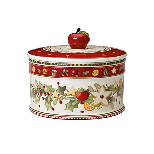 Villeroy & Boch Winter Bakery Delight Caja para Galletas Mediana de 11 x 13 cm, Porcelana, Multicolor, 13 x 17 x 6 cm