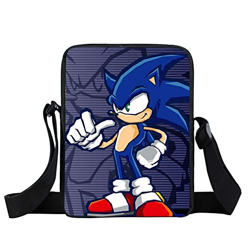 YUNMEI Sonic Juguetes Dibujos Animados Sonic pequeño Bolso de Hombro niños Mochilas Escolares niños Mochila niños niñas Bandolera Mini Bolsas de Mensajero Regalo