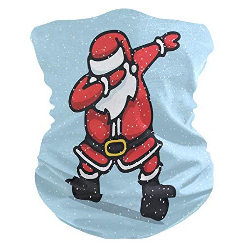 asdew987 Diadema divertida de Papá Noel Dab Bandana máscara de cuello polaina mágica bufanda pasamontañas para mujeres, hombres, niños y niñas