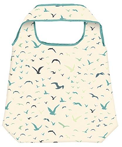 moses. Shopper Vögel | Faltbare Einkaufstasche | umweltfreundlich, wiederverwendbar