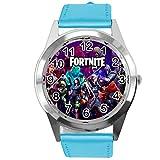 Fortnite Fan Reloj de piel azul