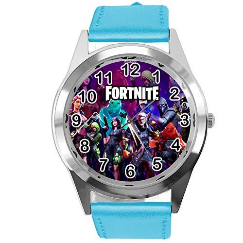 Taport® Armbanduhr für FORTNITE Fans aus Leder, Blau