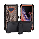 AlphaCell Cover Compatible with Samsung Galaxy Note 9 (Only) | Holster Case Series | Military Grade Protection with Carrying Belt Clip | Protective Drop-Proof Shock-Proof | Orange/Camouflage