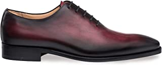 Mezlan Pamplona - Mens Luxury Contemporary 5 Eyelet Plain Toe Balmoral - Hand-Stained Italian Calfskin, with Smooth Hand-Finishes - Handcrafted in Spain - Medium Width