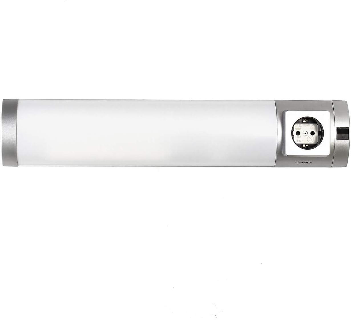 LED Unterbauleuchte mit Steckdose Schalter Wandleuchte Badezimmer Küche  Beleuchtung