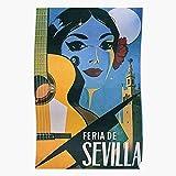 Guitar De Sevilla Feria Spain Travel Fair Vintage Seville
