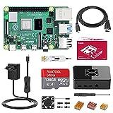 Bqeel Raspberry Pi 4 Model B 4GB+128GB Class10 Micro SD-Karte Ultimatives Kit mit Quad-Core ARM-Cortex-A72/ unterstützt BT5.0/Gigabit-Ethernet/Dual Display 4K 60Hz /Upgraded für Raspberry Pi 3