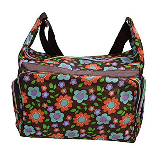 Multicolor Bolsa de Hombro con Flores de Colores Patterns- (bag-w-ww-09)