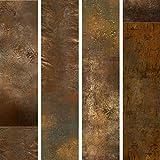 murando - PURO TAPETE selbstklebend 10m Wandtattoo dekorative Möbelfolie Dekorfolie Fotofolie Panel Wandaufkleber Wandposter Wandsticker - Abstrakt Textur Gold f-A-0541-j-a