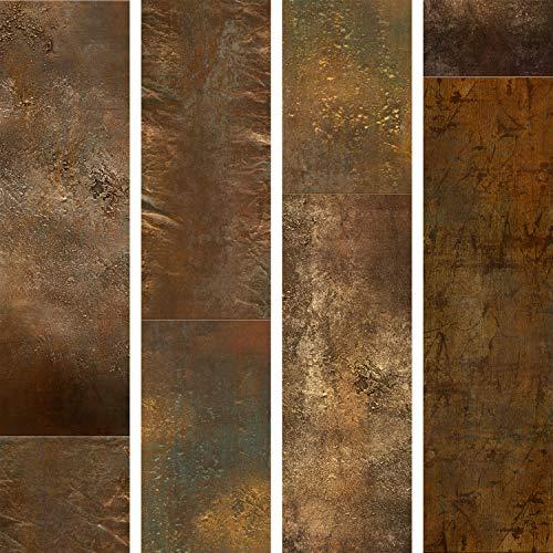 murando - PURO TAPETE - Realistische Tapete ohne Rapport und Versatz 10m Vlies Tapetenrolle Wandtapete modern design Fototapete - Abstrakt Textur Gold f-A-0541-j-a