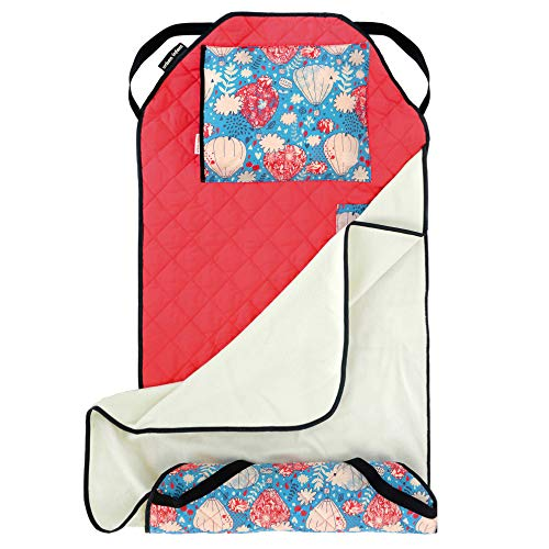 Urban Infant Tot Cot All-in-One Modern Preschool/Daycare Nap Mat with Washable Pillow and Elastic Straps - Seattle