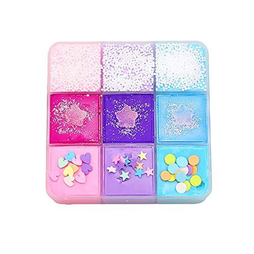 goodjinHH 9 Farben Mischende Kinder Slime Putty Spielzeug Geschenke,Schleim Selber Machen ,Wolke Zuckerwatte Schleim weich und Nicht klebrig Kinder DIY Stressabbau Spielzeug (Mixed, 80g)