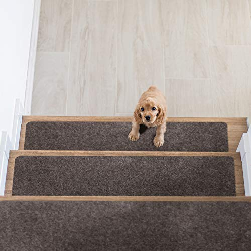 Pretigo Non Slip Carpet Stair Treads, Set of 7,Safety Slip Resistant for Kids, Elders, and Dogs