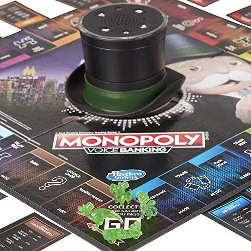 Monopoly Voice Banking Electronic Family Board Game for Ages 8 and up