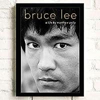 ポスター アートポスター おしゃれ Bruce Lee (124) おしゃれ A3 映画額縁のある絵 木製の枠 モダン 42cm x 30cm フレーム ブラック
