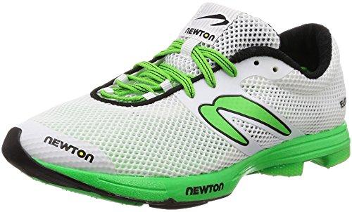 Newton Running Herren Distance Elite Laufschuhe, Weiß (White/Lime 001), 38.5 EU