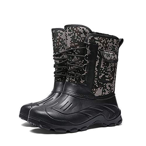 Parcclle Highland Weather Boots - Schneeschuhe, Kälteschutzstiefel mit Innenfutter-EU46