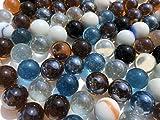 Rhinestone Paradise – 100 bolas de cristal multicolor de 16 mm decorativas, multicolor, azul, blanco, negro, transparente. Canicas de vidrio decorativas