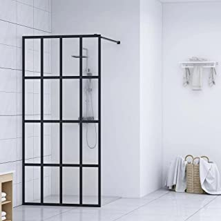 vidaXL Walk-in Shower Screen Enclosure Panel Hardware Bathtubs Cabin Screen Cubicle Bathroom Door Bath Attachment Home Bat...