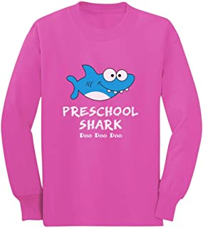 Preschool Shark Doo Doo Back to School Funny Toddler/Kids Long Sleeve T-Shirt