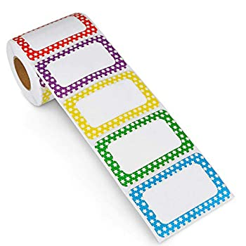 Methdic 5 Colors Adhesive Name Tag Labels 250 Stickers 3.5  x 2.25  Plain Tags for Office & School