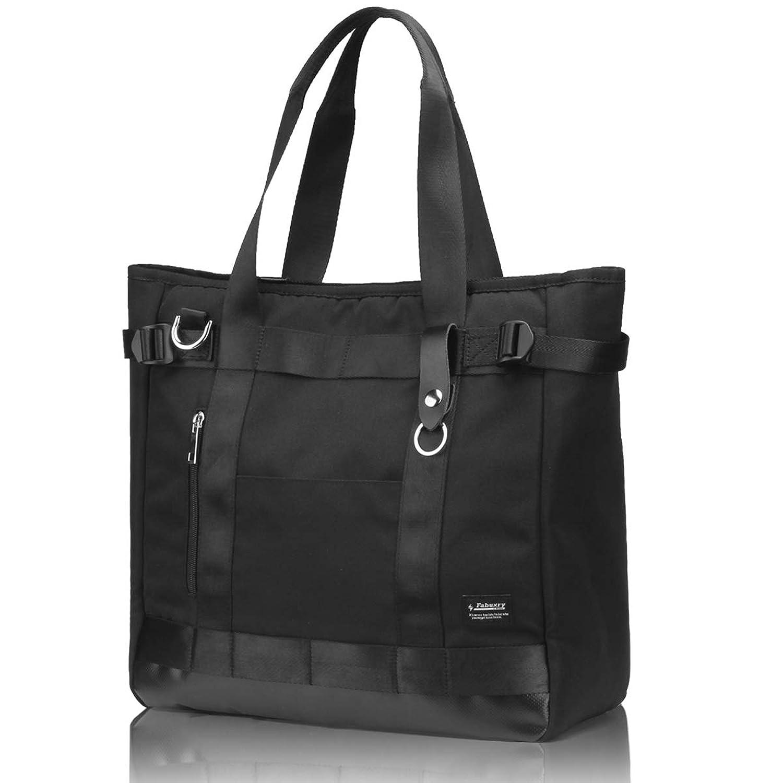 トートバッグ メンズ 大容量 A4 2WAY バッグインバッグ付き 多機能 ビジネス 黒