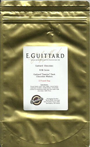 E. Guittard Chocolate - 'Lever Du Soleil' (Sunrise) Semisweet Dark Chocolate Wafers for Baking and Eating, 61% Cocoa, Gold Bag, 2 Pounds