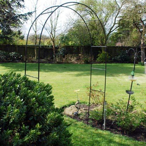 METAL STEEL GARDEN ROSE ARCH. 2.4m TALL. TRAILING PLANTS ROSES RUNNER BEANS