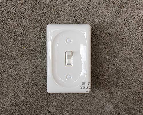 Ploutne Interruptor de la Pared de la Mejora de la casa Japanese American Standard Retro Cerámica Interruptor de zócalo Interruptor de Doble Control Oculto Doble OpenRETRO Vintage Cerá