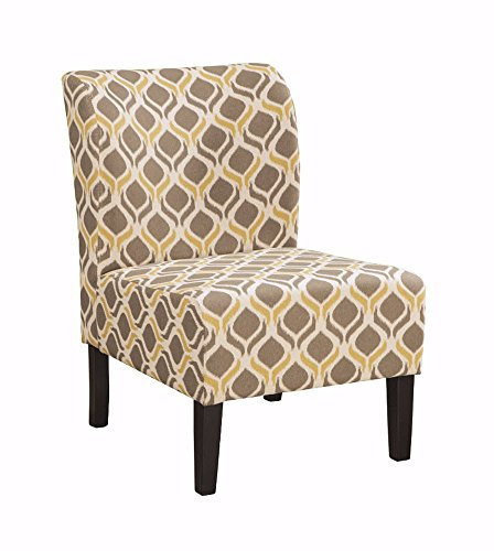 Signature Design by Ashley - Honnally Accent Chair - Contemporary Style - Gunmetal