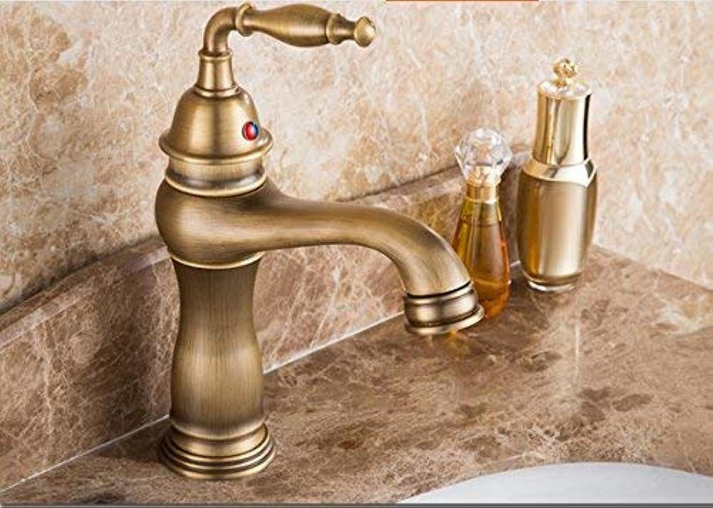CFHJN Home Mixer Wasserhahn Kupfer im europischen Retro-Stil Badezimmer hei und kalt Waschen Sie Ihr Gesicht