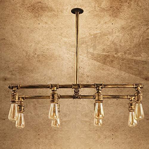Hines Candelabro 8 Cabezales E27 Industrial Retro Lámpara De Techo Simplicidad Creatividad Lámpara Colgante Hierro Tubería De Agua Luces Empotradas En El Techo Luz Colgante