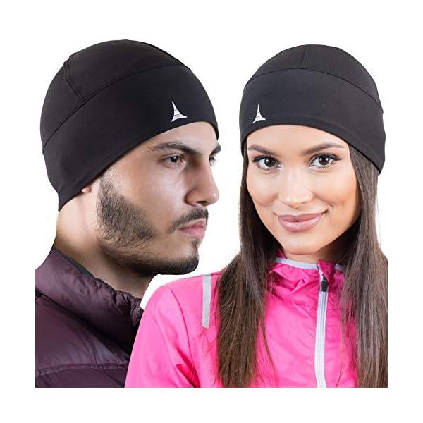 Helmet Liner Sweat Wicking Cooling Skull Cap Beanie. Ultimate Performance Moisture Wicking. Fits Under Helmets