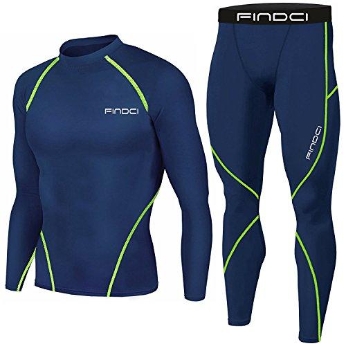 Set da Uomo, 2 Pezzi Maglia e Pantaloni, Motivo: Mimetico, Stile sportivo, per corsa e allenamento, ad asciugatura rapida, Blue green line 2, XXXL