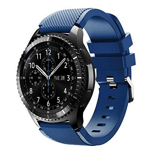 Conquro 22 mm para Samsung Gear S3 Frontier Silicona Ajustable Moda Correa Juvenil Fitness Fitness Pulsera
