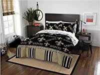 New Orleans Saints Queen Comforter & Sheets, 5 Piece NFL Bedding