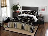 New Orleans Saints Full Comforter and Sheets, 5 Piece NFL Bedding
