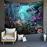Decoración de pared Decoraciones para dormitorio Moda Playa Mantón Seta Qi Tapiz de jardín feliz Decoraciones para el hogar para sala de estar Dormitorio 200X150Cm Alfombras de picnic Manteles de
