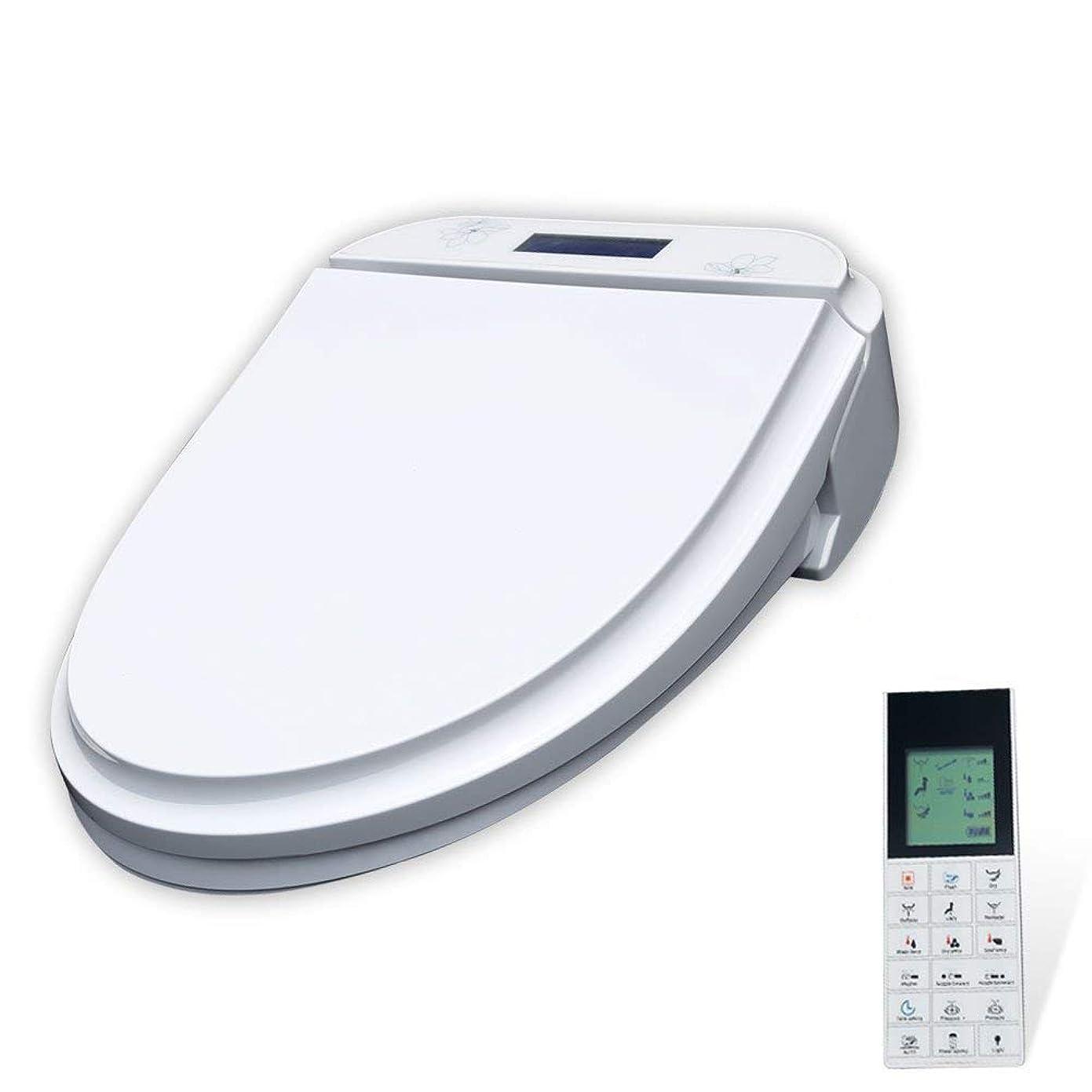 一皮見てShiSyan 便座カバー おしゃれ ワイヤレスパネル、P04水温温水シート規制、LCDスクリーン、ホワイトと自動スマート電気ビデ便座ソフトを閉じます 普通便座 トイレ用品