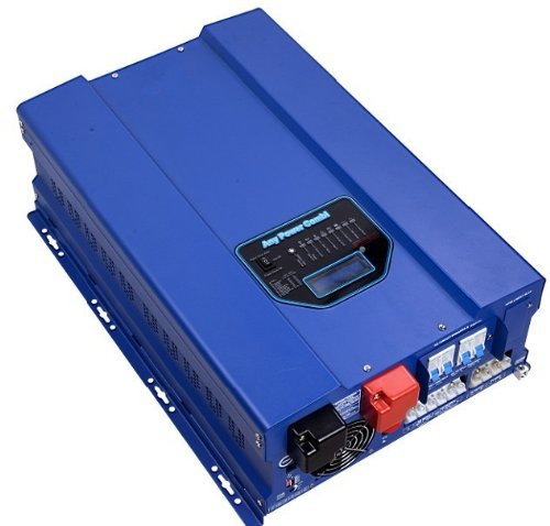 ZODORE HFV Serie 6000W Reiner Sinus Wechselrichter, Spannungswandler 48V / 230V, mit integriertem MPPT Solar-Laderegler 40A, Ladegeraet, Solar-Wechselrichter, off -Grid,LED&LCD.