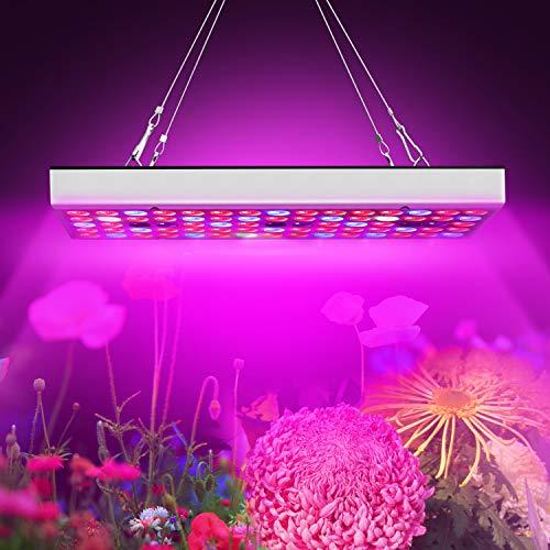 植物育成ライト、25W育成ランプキットフルスペクトル高効率LEDチップ付きUV IR赤青開花育成ライト屋内水耕栽培温室野菜植物と花種まきから収穫まで
